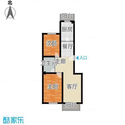 东港龙城103.68㎡L-c(反)面积10368m户型