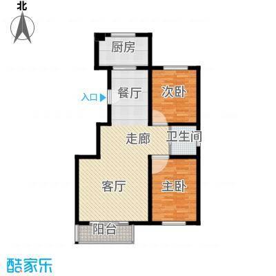东港龙城93.74㎡J-a(反)面积9374m户型
