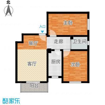 东港龙城91.12㎡L-b(反)面积9112m户型