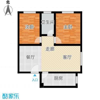 东港龙城85.45㎡L-a(反)面积8545m户型