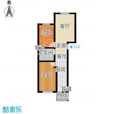 东港龙城90.52㎡A-e1面积9052m户型