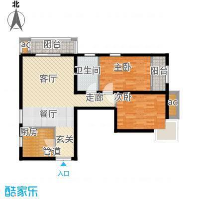 文苑凤凰城101.00㎡1号楼A1反面积10100m户型