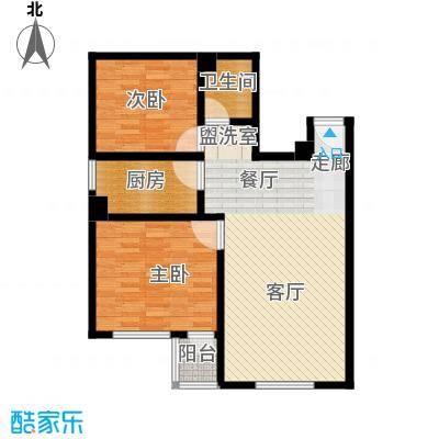 东港龙城84.34㎡A-b1面积8434m户型