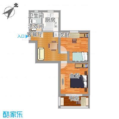 宜居2015户型两室一厅方案1