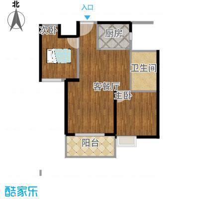 金地艺境88.00㎡G2户型2室2厅1卫-最完整