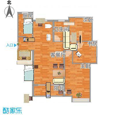 约90平米B3三室一厅