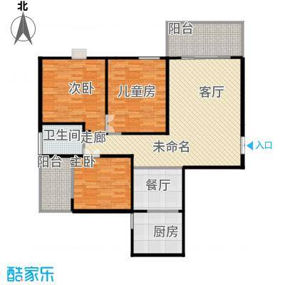 君�花园智本精英房A户型3室1厅2卫1厨 - 副本