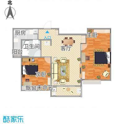 国泰润园104方B户型两室两厅 - 副本