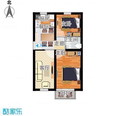 天津东方环球影城57.68㎡精装公寓标准层C户型 - 副本