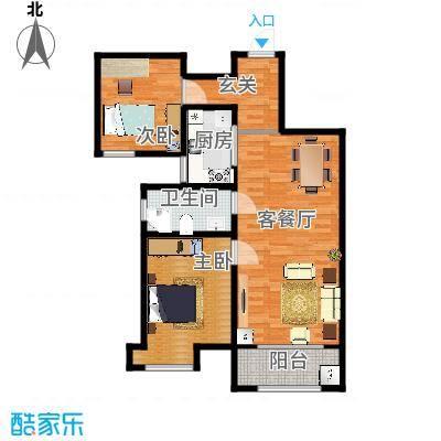 海棠湾A2两室两厅A2100.7㎡