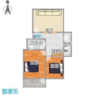 88平三室一厅