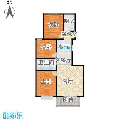 向阳雅园93.00㎡三室二厅一卫户型3室2厅1卫 - 副本 - 副本