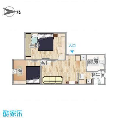 一室一厅55.8平-绿通设计