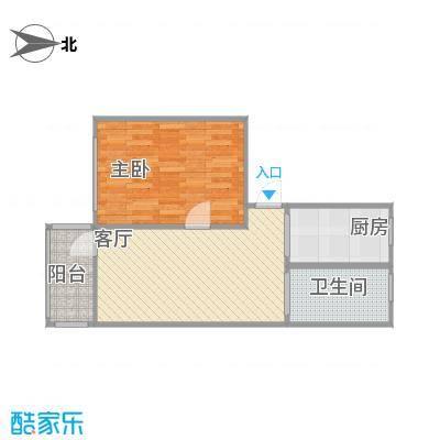 一室一厅55.8平-印堂原图