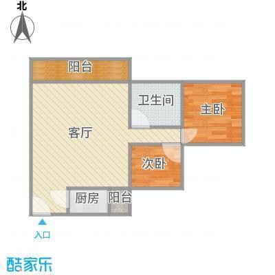 丽阳苑75方A3平方2房2厅