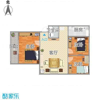 营苑新寓75平方米三室一厅一卫