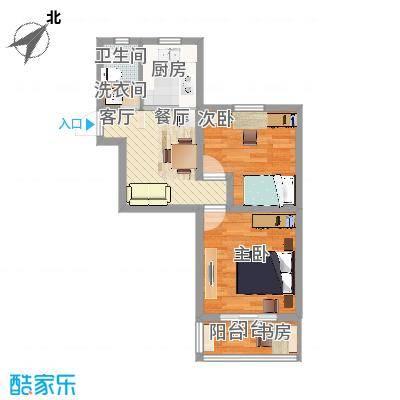 宜居2015户型两室一厅方案2