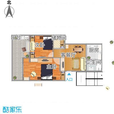 东华美路小区102户型二室一厅-副本-有餐厅 - 副本