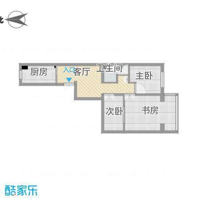小两居户型图的方案1的复制方案