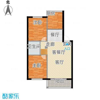 富都丽景户型2室1厅1卫1厨-副本 - 副本