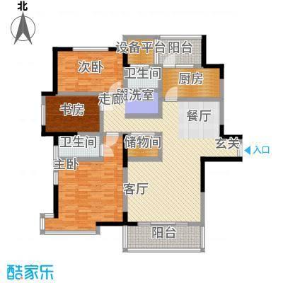 长江峰景130.46㎡一期5号楼标准层A1户型 - 副本