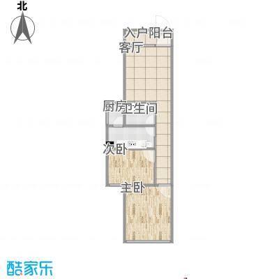 JH-65方A1户型2房1厅_001