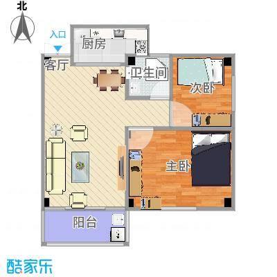 70方户型两室一厅-副本