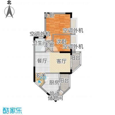 鼎盛时代广场户型2室1厅1卫1厨 - 副本