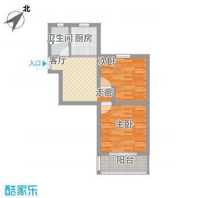 宜居2015户型两室一厅方案4