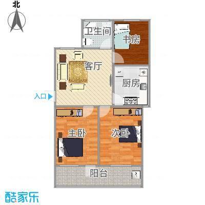 机电宿舍90平三室一厅 - 副本