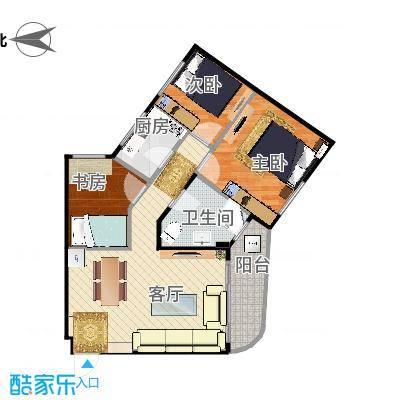 华昱苑-两室一厅78m - 副本