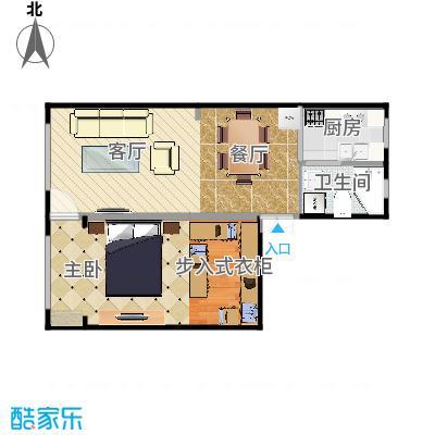 岭南小区61方一室两厅