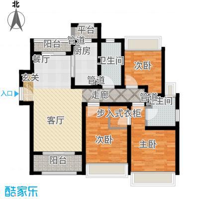 保利翡丽公馆117.00㎡B1户型3室2厅 - 副本 - 副本