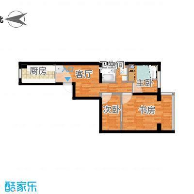 小两居户型图的方案1的复制方案 - 副本