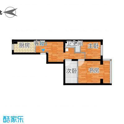 小两居户型图的方案1的复制方案 - 副本 - 副本