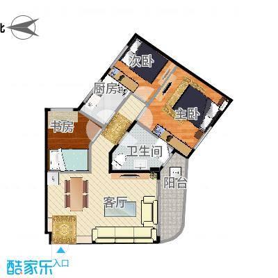 华昱苑-两室一厅78m - 副本 - 副本