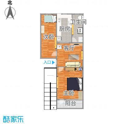 中德亚运村74平两室一厅