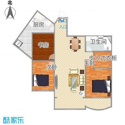 海悦山105平E1户型三室两厅一卫