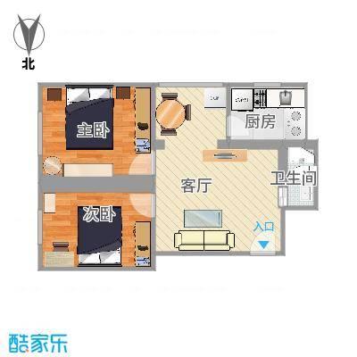 56平两室一厅 - 副本