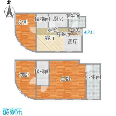 TOUCH悦城户型3室1厅2卫1厨 - 副本