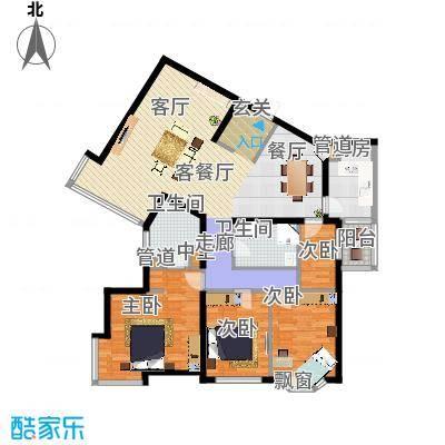 城建花园户型4室1厅2卫1厨 - 副本