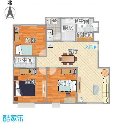 由由新邸 -  3 室2厅2卫