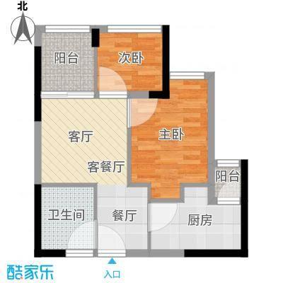 东原D8公馆户型2室1厅1卫1厨 - 副本