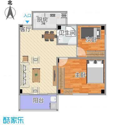 70方户型两室一厅-副本-副本