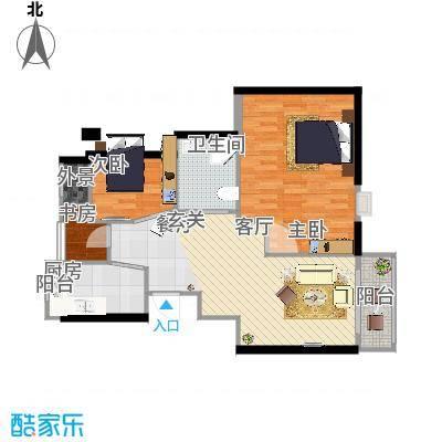90平方两居室两厅 - 副本