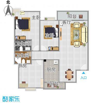 杨柳国际新城117方3室2厅2卫