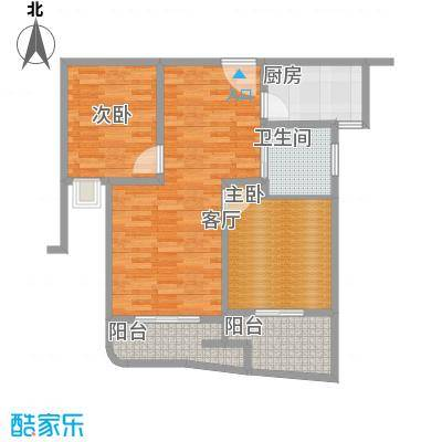昆山颐景园87.00㎡一期高层A1户型 - 副本