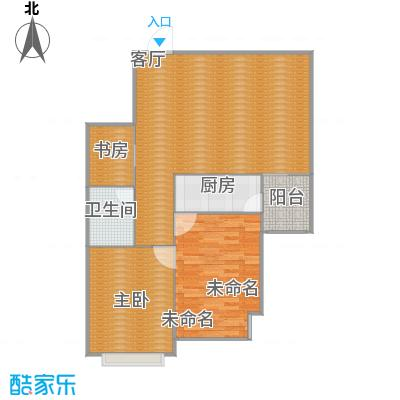 中水金海嘉苑D户型两室一厅