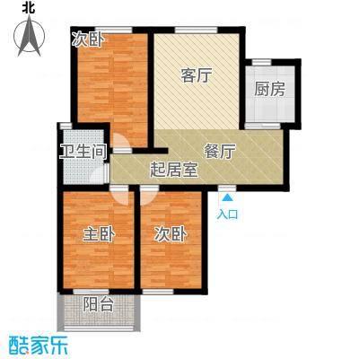 锦江花园户型3室1卫1厨 - 副本