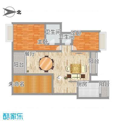 御沁园公寓的户型图 - 146平米